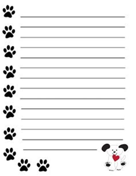 3x4 note card template with paw print 1000 images about note book paper on