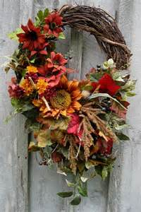 Autumn wreath fall floral designer wreaths by newenglandwreath