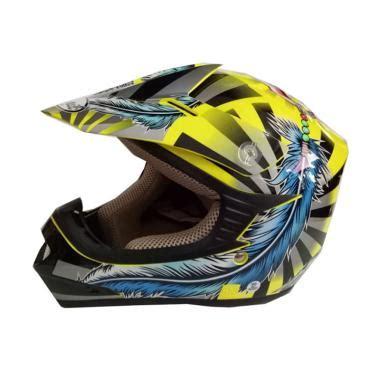 Helm Cross Snail Mx 315 jual snail helmet 306 feather blue kid helm motocross harga kualitas terjamin