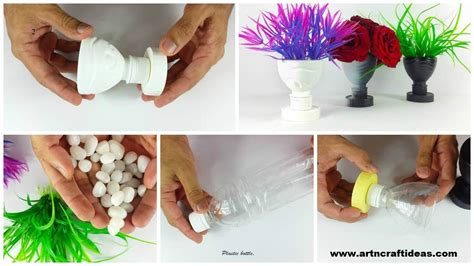 out of plastic diy flower vase out of plastic bottle craft ideas