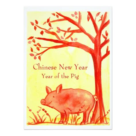 new year of the golden pig new year of the pig card zazzle