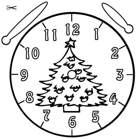 Kostenlose Vorlage Uhr Kostenlose Malvorlage Uhrzeit Lernen Ausmalbild Christbaum Zum Ausmalen