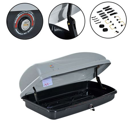 top of car storage container aosom 7 cubic cargo box car suv top roof carrier