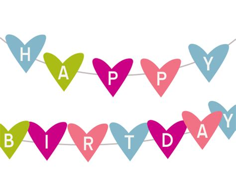 cute happy birthday banner printable free printable happy birthday banner karen cookie jar