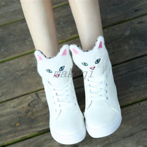 cutest sneakers fashion new animals lace up sweet high top