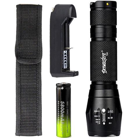Senter Skywolfeye skywolfeye 8000 lm zoom cree xm l t6 led flashlight 5