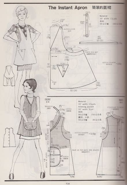 japanese pattern drafting books free vintage apron patterns decorlinen com