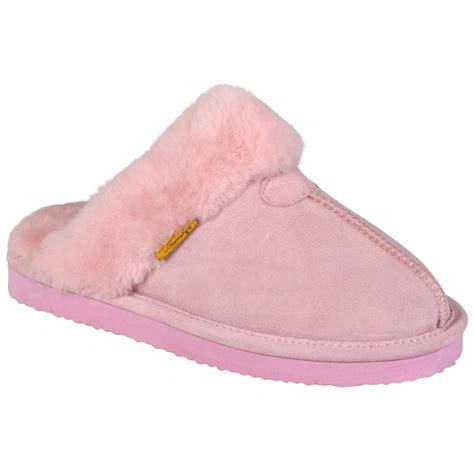 backless slippers brumby womens backless sheepskin scuff slipper ebay