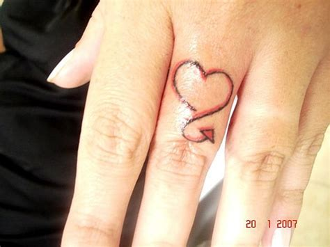 heart tattoo on finger 20 awesome finger tattoos design
