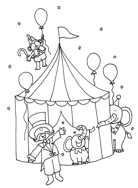 circus monkey coloring pages free coloring pages of carnival circus