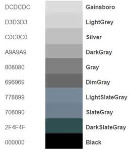 grey color code what is html color codes how does it work