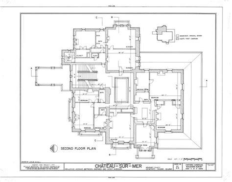 gilded age mansions floor plans chateau sur mer 2nd floor gilded age mansions