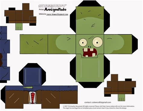 Plants Vs Zombies Paper Crafts - 1000 images about plants vs zombies printables on