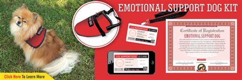 emotional support registration emotional support kits