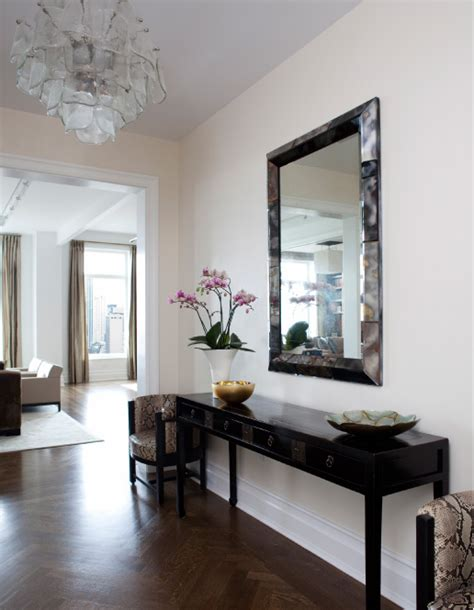 Entry Console Table With Mirror Lucite Console Table Contemporary Entrance Foyer Mcgill Design