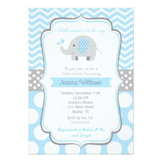 Elephant Baby Shower Invitations Announcements Zazzle Elephant Baby Shower Invitations Free Template