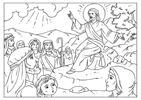 coloring pages of jesus sermon on the mount coloring page sermon on the mount img 25926
