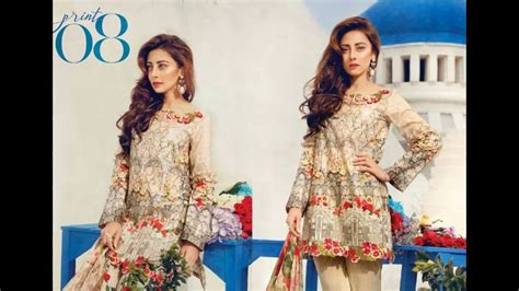 designer lawn dress designs 2017
