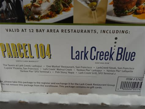 Costco Restaurant Gift Cards - lark creek restaurants discount gift card