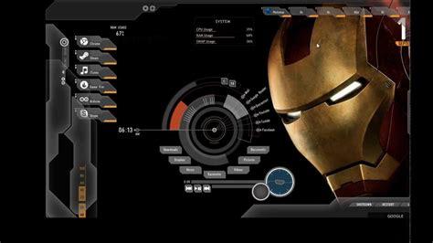 iron man themes download for pc iron man rainmeter theme download and demo setup youtube