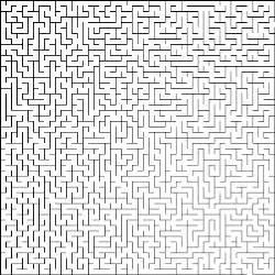 Printable Maze Moeilijke Doolhof 1