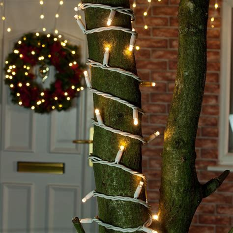 Festive Outdoor String Lights Outdoor Led Flash Bulb String Lights Connectable White Rubber Cable