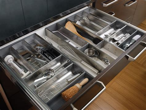 Wood Kitchen Drawer Organizers by Stainless Steel Drawer Organizer Kitchen