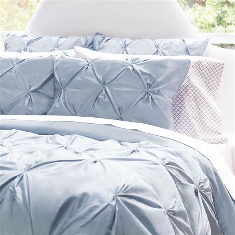 blue pintuck comforter french blue duvet cover the valencia french blue crane