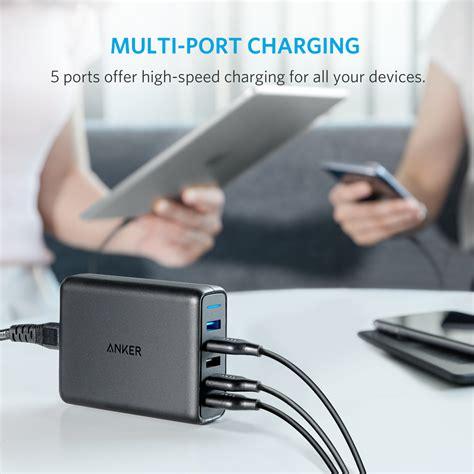 Anker Powerport Speed 5 Wall Charger Powerline Micro Usb 3ft Black anker powerport speed 5 dual charge 3 0 poweriq a2054l11