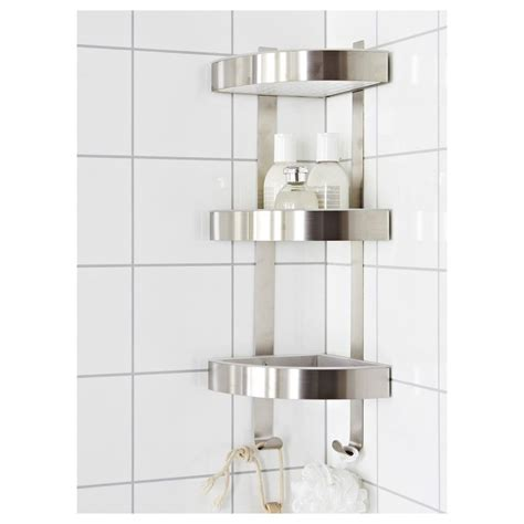 Bathroom Corner Wall Shelves Rust Resistant Stainless Steel 3 Tier Bathroom Corner Wall Shelf Caddy Grundtal Ebay