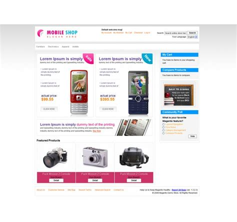 mobile themes magento 8 impressive collection of magento themes