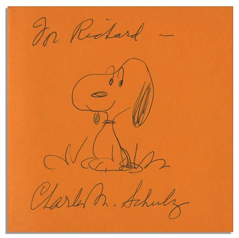 lg premium dog house lot detail charles schulz hand drawn sketch of snoopy within his signed peanuts