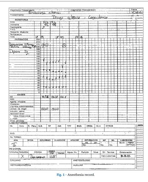 anesthesia record form template pin anesthesia record forms on