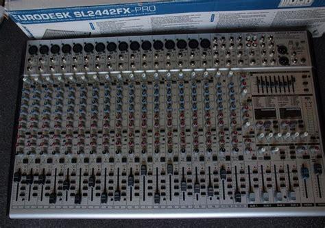 Mixer Behringer Sl2442fx new behringer eurodesk sl2442fx pro multi 24 channel mixer catawiki
