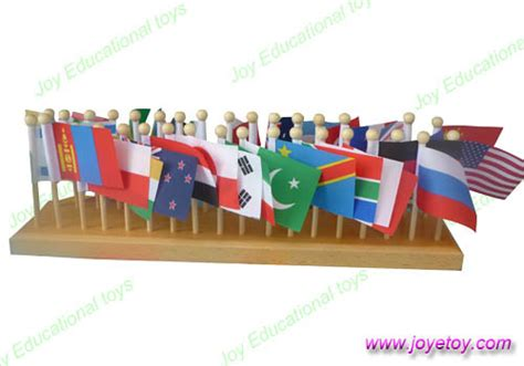 flags of the world montessori china montessori material 36 flags china wooden toys