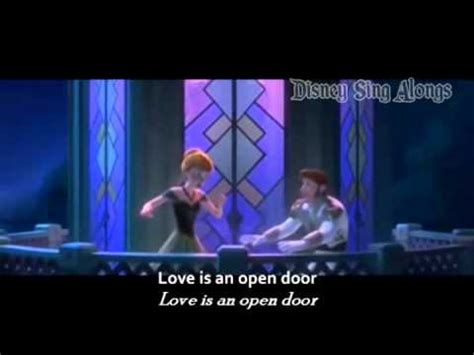Frozen Is An Open Door Lyrics by Is An Open Door Frozen Sing Along