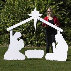 Large silhouette outdoor nativity set full scene outdoor nativity