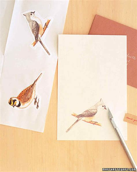 handmade thank you cards messenger birds martha stewart