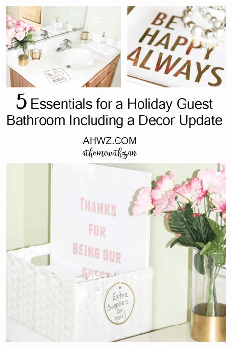 5 essentials for a holiday guest bathroom including a
