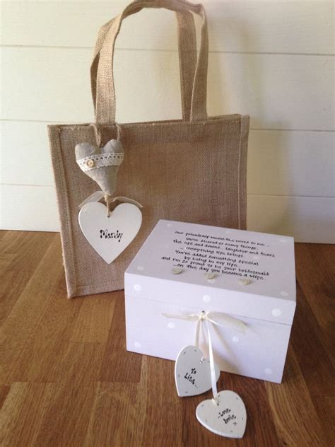 shabby chic gifts shabby personalised chic gift for from bridesmaid wedding large box set
