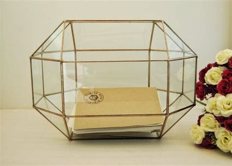 Wedding Envelope Box by Wedding Card Box Large Geometric Box Envelope Holder