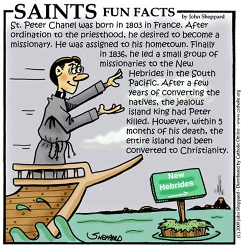 st facts for st chanel saints catholic