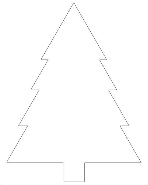 free printable christmas tree templates tree outline
