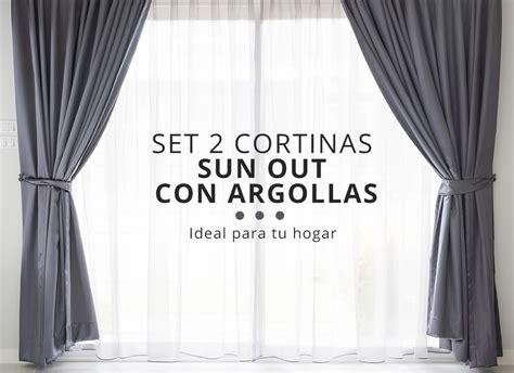cortinas sun out set 2 cortinas sun out con argollas