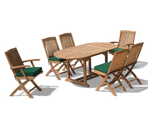 Extending Patio Table Bijou Outdoor Extending Garden Table And Folding Chairs Patio Teak Extendable Dining Set