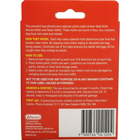 Pantry Moth Traps Woolworths hovex insect moth trap pantry 2pk woolworths
