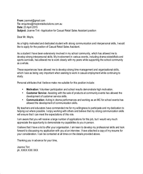 cover letter sales associate sample of cover letter for sales
