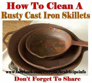 cleaning cast iron pans cleaning tips pinterest