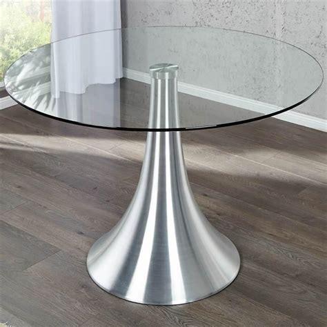 Runder Glastisch Esstisch runder design glastisch quot 110 cm sicherheitsglas
