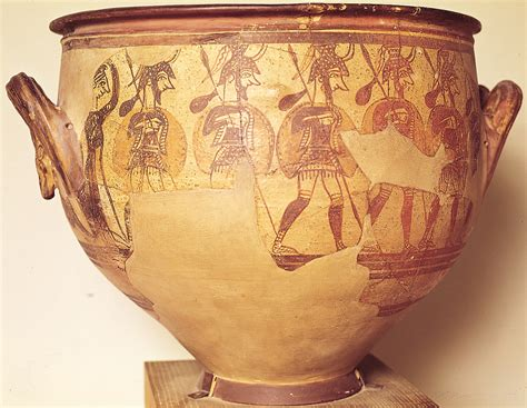 Mycenaean Warrior Vase by 301 Moved Permanently